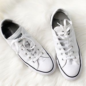 Converse white low top sneaker
